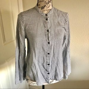 Madewell checkered button up